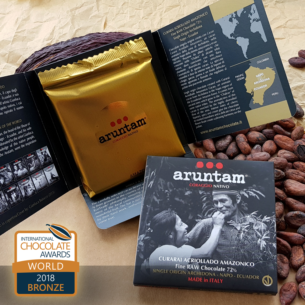 BRONZE – Curarai Acriollado Amazonico Ecuador Fine Raw Chocolate 72½ Single Origin Archidona, Napo