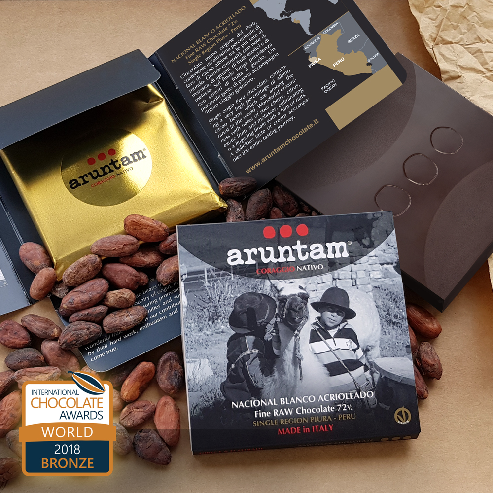 BRONZE – Nacional Blanco Acriollado Fine Raw Chocolate 72½ Single Region Piura, Perú