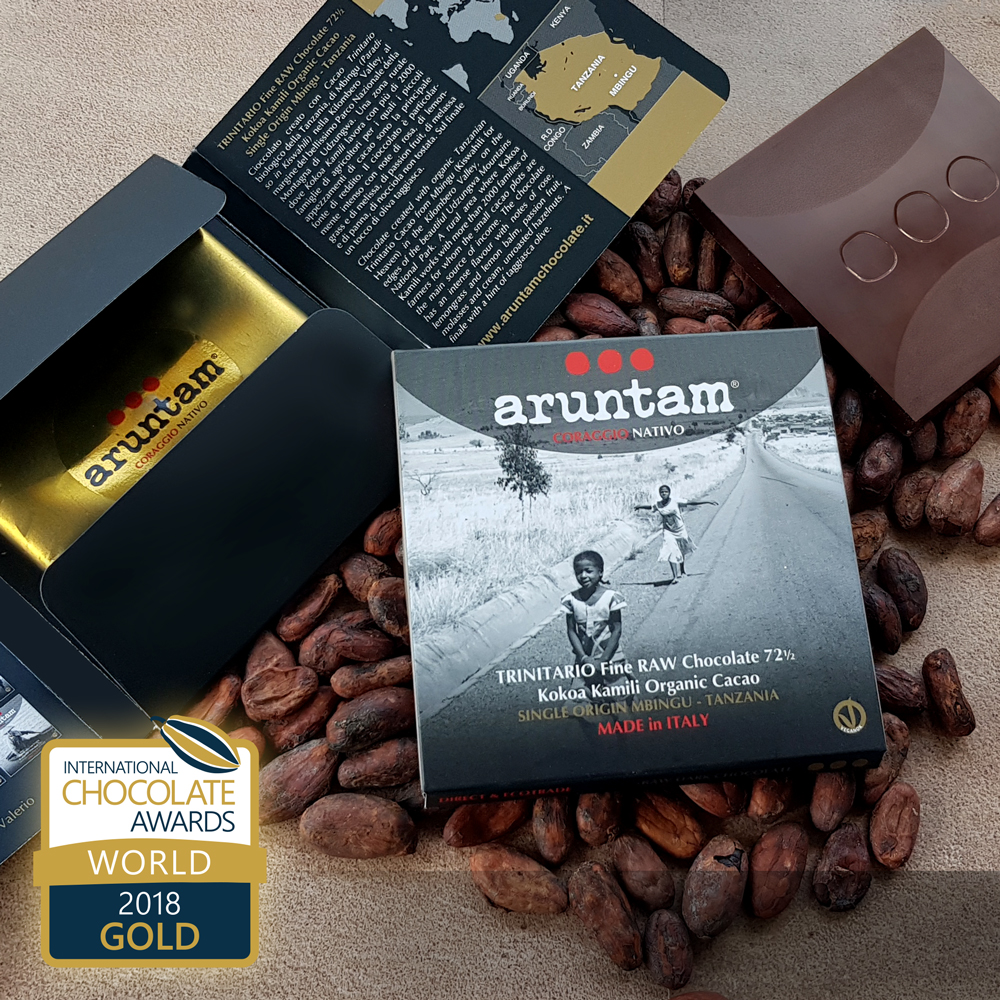 GOLD – Trinitario Fine Raw Chocolate 72½ Kokoa Kamili Organic Cacao Single Origin Mbingu, Tanzania
